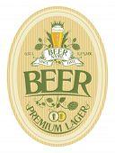 Beer label design template.