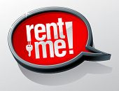 Rent me shiny glass speech bubble.