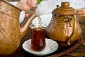 Drinking Traditional Turkish Tea