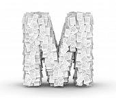 Letter M, page documents font