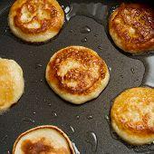 Hot Pancake in Frying Pan