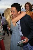 LOS ANGELES - AUG 18:  Angela Kinsey, Oscar Nunez at the Oceana's 6th Annual SeaChange Summer Party at the Beverly Hilton Hotel on August 18, 2013 in Beverly Hills, CA