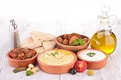 lebanese food, cold mezze