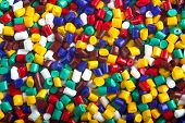 image of thermoplastics  - Colorful industrial plastic granules background - JPG