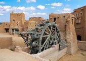stock photo of mongol  - Ancient wheel well in the medieval Mongolian capital Sarai - JPG