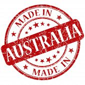 Made In Australia Red Stamp