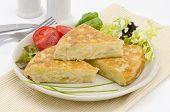 Spanish Cuisine. Spanish Omelette. Tortilla De Patatas.