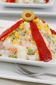 Spanish Cuisine. Russian Salad. Ensaladilla Rusa.