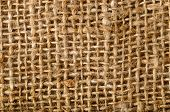 Close-up of rough sackcloth texture background