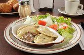 Chicken Portabella Ravioli And Salad