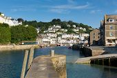 Harbour Looe Cornwall England UK