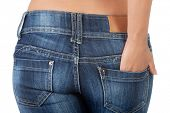 picture of bare butt  - Fit female butt in jeans - JPG