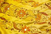 Yellow Satin Textile
