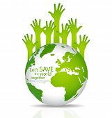 stock photo of greenhouse  - Save the world - JPG