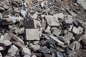 Concrete Debris On Construction Site