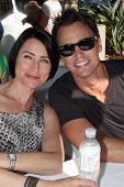 LOS ANGELES - AUG 23:  Rena Sofer, Darin Brooks at the Bold and Beautiful Fan Meet and Greet at the Farmers Market on August 23, 2013 in Los Angeles, CA