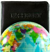 stock photo of passport cover  - Passport cover Concept Travel Around The World - JPG