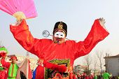 People Wear Colorful Clothes, Yangko Dance Performances In The Street