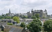 City view of Vitre in Brittany France