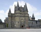 The castle of Vitre in Brittany France