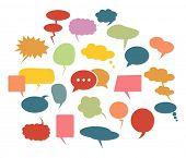 Speech bubbles icons set.Vector