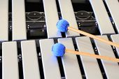 Vibraphone keyboard and mallets