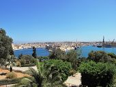 High vantage point overlooking the sea fortress in Malta