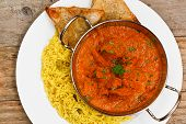 Chicken Tikka Masala Balti Dish