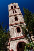 Bell Tower Of Orthodox Church In Pefkochori, Greece