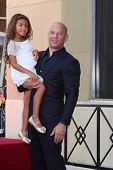 LOS ANGELES - AUG 26:  Hania Riley, Vin Diesel at the Vin DIesel Walk of Fame Star Ceremony at the R