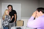 LOS ANGELES - AUG 24:  Scott Clifton, Fan at the Bold n Beautiful QnA and Autograph Event  at the Un