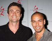 LOS ANGELES - AUG 24:  Daniel Goddard, Bryton James at the Young & Restless Fan Club Dinner at the U