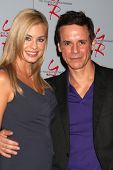 LOS ANGELES - AUG 24:  Jessica Collins, Christian LeBlanc at the Young & Restless Fan Club Dinner at