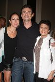 LOS ANGELES - AUG 24:  Rachael Marcus Goddard, Daniel Goddard, Mom at the Young & Restless Fan Club