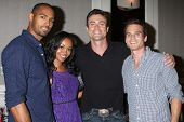 LOS ANGELES - AUG 24:  Lamon Archey, Mishael Morgan, Daniel Goddard, Greg Rikaart at the Young & Res