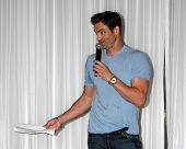 LOS ANGELES - AUG 25:  Daniel Goddard at the Goddard and Khalil Fan Event at the Universal Sheraton