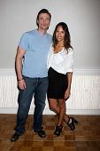 LOS ANGELES - AUG 25:  Daniel Goddard, Christel Khalil at the Goddard and Khalil Fan Event at the Un