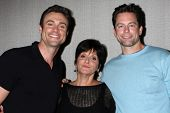 LOS ANGELES - AUG 24:  Daniel Goddard, Jill Farren Phelps, Michael Muhney at the Young & Restless Fa