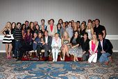LOS ANGELES - AUG 24:  Young and the Restless Cast, Lee Bell, Angelica McDaniel at the Young & Restl