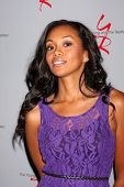 LOS ANGELES - AUG 24:  Mishael Morgan at the Young & Restless Fan Club Dinner at the Universal Sheraton Hotel on August 24, 2013 in Los Angeles, CA