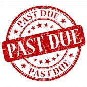 Past Due Red Stamp