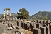 Rural Greek Delphi Temple