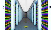 picture of dumper  - modern self storage with colored dumpers and stars on the floor - JPG