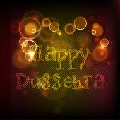 Indian festival Happy Dussehra shiny background.