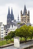 Cathedral Of Cologne And Church Of Gross St. Martin In Cologne