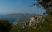 Ruined Castle Of Monolithos On The Rhodes Island
