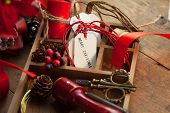 image of scissors  - Christmas preparation - JPG