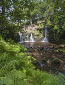 foto of hughes  - the waterfall at lumb falls written about by ted hughes poet laureate - JPG