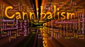 Cannibalism Word Cloud Glowing