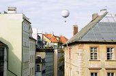 Hot Air Balloon Over The Prague
